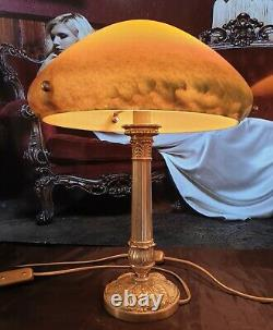 Paire De Lampes Art Déco Art Nouveau Verre Moulé Signée Vianne (BronzeLaiton)