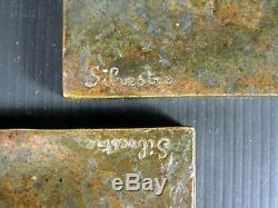 Paire de Serre-Livres Bronze Signés Silvèstre ed. Susse Frères Tampons