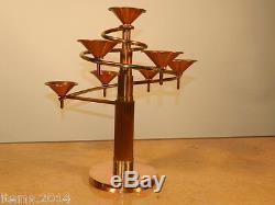 Paire de candelabres 1970, bronze, laiton et cuivre
