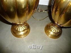 Paire de grandes lampes torsade en bronze