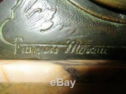 Pendule Francois Moreau Idylle Printaniere P bronze médaille d'or et signature