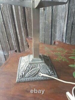 Pied De Lampe Art Deco- Bronze Argente