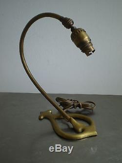 Pied Lampe Bryant USA 1907 Art Nouveau Bronze Dore Liberty Jugenstil Deco 1900