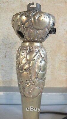 Pied lampe bronze art nouveau art déco Leleu