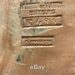 RARE WW2 PLAQUE LE MARECHAL PETAIN F Cogne édité par VUITTON terre cuite 41 cm