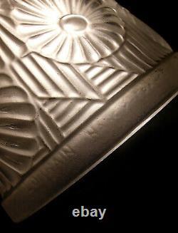 Ranc & Lorrain Paire Dappliques Art Déco En Bronze Nickelé & Tulipes 1930