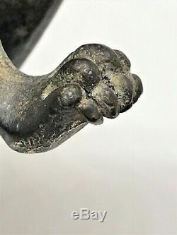 Sculpture cubiste en bronze Panthère/Pumas, Art-Déco. (lion, guépard, tigre.)