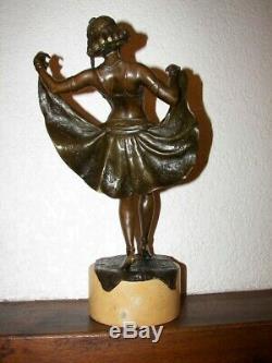 Statue Bronze Art Deco. Statue Signee Bergman. Grand Bronze De Vienne