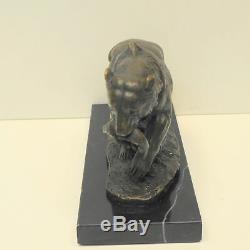 Statue Sculpture Ours Animalier Style Art Deco Style Art Nouveau Bronze massif S