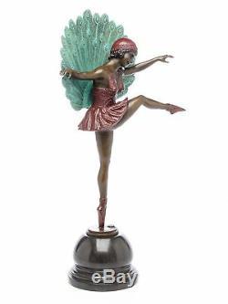 Statuette de ballerine style art déco bronze 56 cm