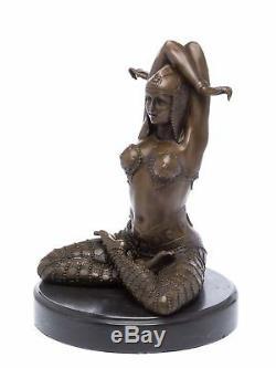 Statuette de danseuse style Art déco bronze