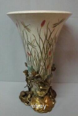 Vase Figurine Grenouille Style Art Deco Style Art Nouveau Porcelaine Bronze
