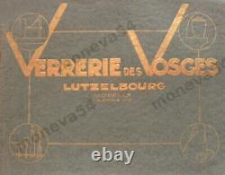Verrerie Des Vosges Lampe Art Déco En Bronze Nickelé & Globe Verre Pressé 1930